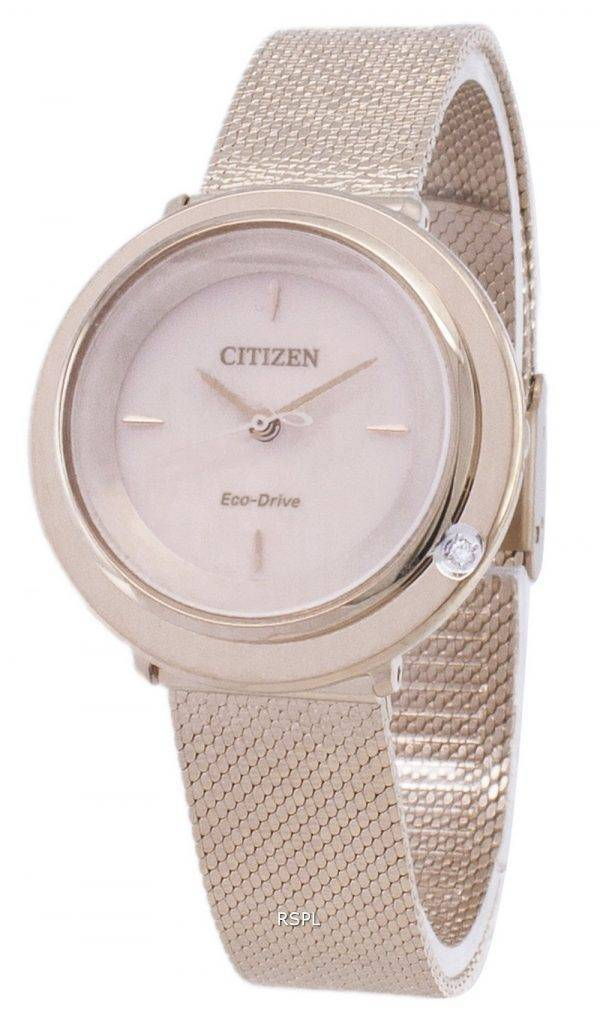 L Citizen Eco-Drive EM0643-84 X analogique diamant Accents Women Watch