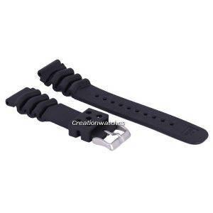Bracelet en caoutchouc noir 22mm