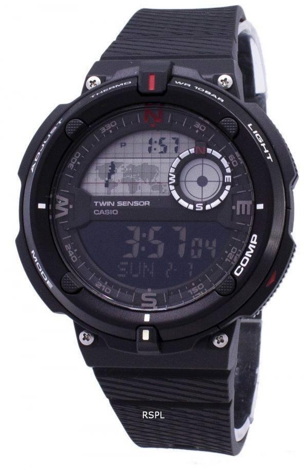 Montre Casio extérieure SGW-600H-1 b Twin capteur Digital Quartz homme