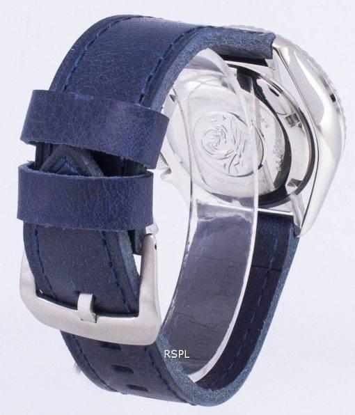 Montre 200M en cuir bleu foncé sangle masculine automatique Seiko SKX007K1-LS13 Diver