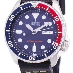 Montre 200M cuir noir bracelet masculin automatique Seiko SKX009K1-LS14 Diver