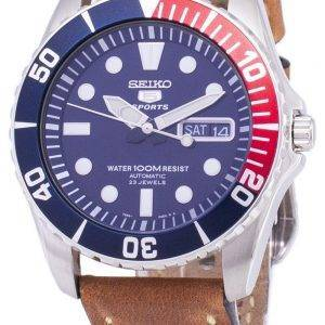 Seiko 5 Sports SNZF15K1-LS17 automatique cuir marron bracelet montre homme