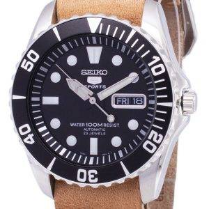 Seiko 5 Sports SNZF17K1-LS18 automatique cuir marron bracelet montre homme
