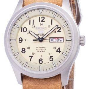 Seiko 5 Sports SNZG07K1-LS18 automatique cuir marron bracelet montre homme