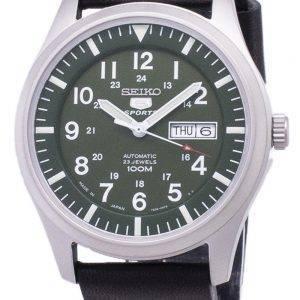 Seiko 5 Sports SNZG09J1-LS14 Japon fait en cuir noir bracelet montre homme