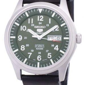 Seiko 5 Sports SNZG09K1-LS14 en cuir noir automatique bracelet montre homme