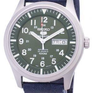 Seiko 5 Sports SNZG09K1-LS15 en cuir bleu foncé automatique bracelet montre homme