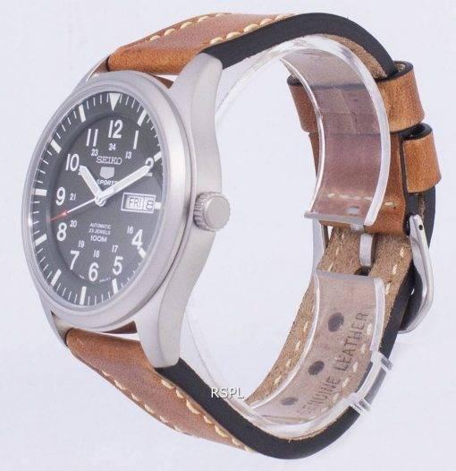 Seiko 5 Sports SNZG09K1-LS17 automatique cuir marron bracelet montre homme