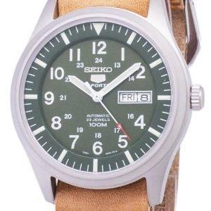 Seiko 5 Sports SNZG09K1-LS18 automatique cuir marron bracelet montre homme
