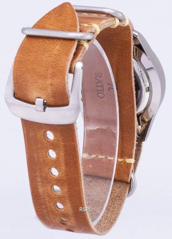 Seiko 5 Sports SNZG11J1-LS18 automatique cuir marron bracelet montre homme