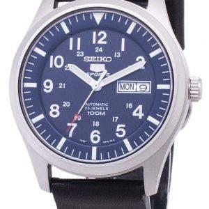 Seiko 5 Sports SNZG11K1-LS14 en cuir noir automatique bracelet montre homme