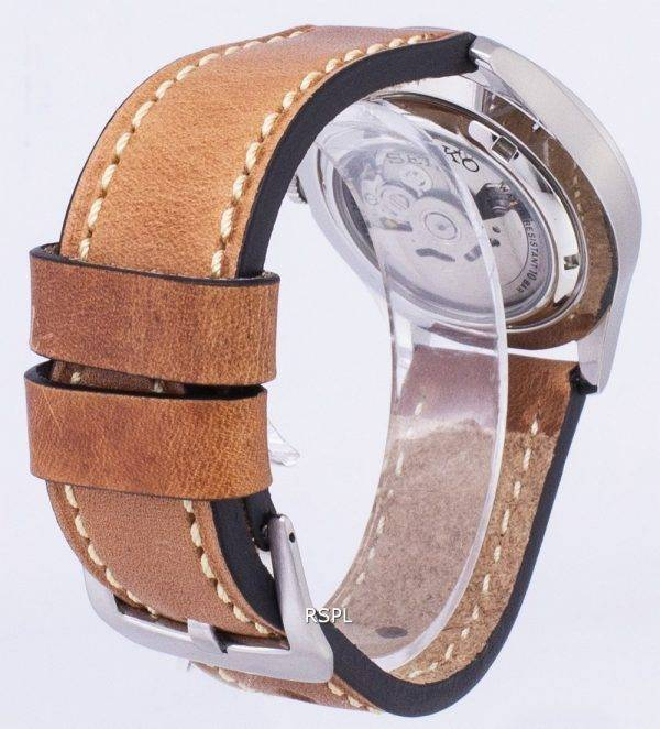 Seiko 5 Sports SNZG11K1-LS17 automatique cuir marron bracelet montre homme