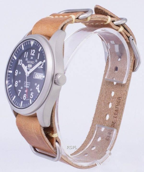 Seiko 5 Sports SNZG11K1-LS18 automatique cuir marron bracelet montre homme