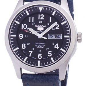 Seiko 5 Sports SNZG15J1-LS13 Japon fait en cuir bleu foncé bracelet montre homme
