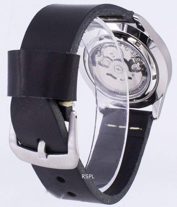 Seiko 5 Sports SNZG15K1-LS14 automatique cuir noir bracelet montre homme