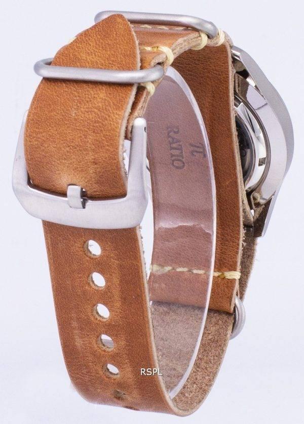 Seiko 5 Sports SNZG15K1-LS18 automatique cuir marron bracelet montre homme