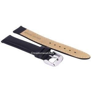 Bracelet de cuir noir Ratio marque 18mm