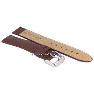Bracelet de cuir brun Ratio marque 18mm