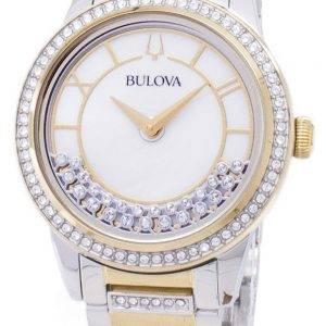Bulova Crystal TurnStyle 98 L 245 Quartz diamant Accents Women Watch