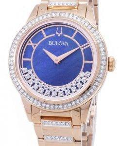 Bulova Crystal TurnStyle 98 L 247 Quartz diamant Accents Women Watch