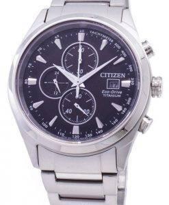 Montre Citizen Eco-Drive CA0650-82F chronographe titane masculine