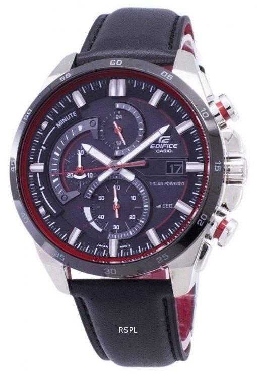 Montre Casio Edifice EQS-600BL-1 a solaire chronographe hommes