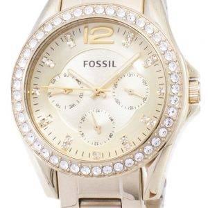 Fossil Riley multifonction Gold Tone cadran en cristal de ES3203 femmes