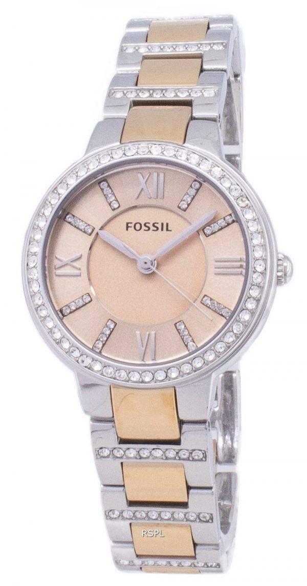 Fossil Virginia Rose cadran de cristal bicolores ES3405 femmes