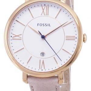 Fossiles montre Quartz Jacqueline Blush Leather Strap ES3988 féminin