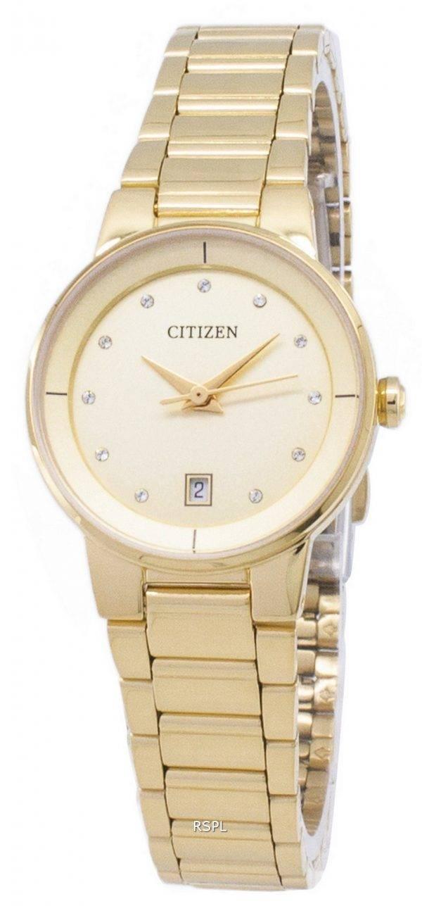 Citizen automatique EU6012 - 58P diamant Accents analogiques Women Watch