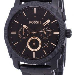 Fossil machine Mid-Size de montres Chronograph Stainless Steel FS4682 IP noir hommes