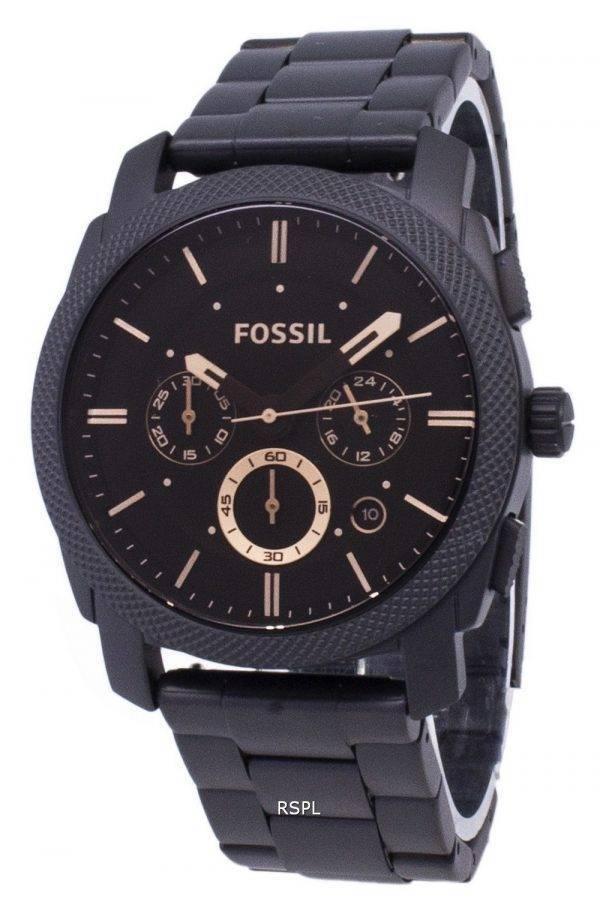 Fossil machine Mid-Size de montres Chronograph Stainless Steel FS4682 IP noir hommes
