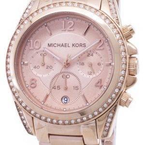 Michael Kors Rose or plaqué montre Blair Glitz MK5263 féminin