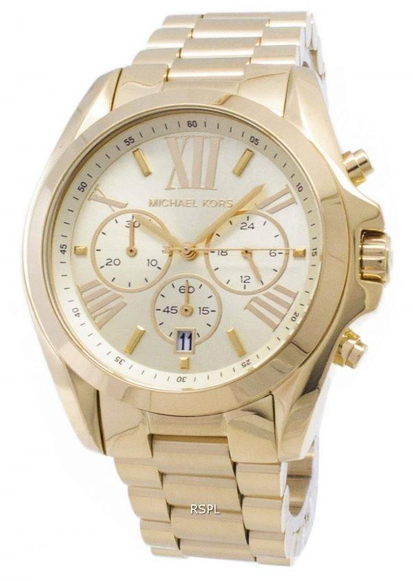 Michael Kors chronographe Bradshaw doré MK5605 montre unisexe