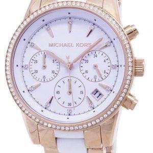 Montre Michael Kors Ritz Quartz chronographe Crystal Accents MK6324 féminin