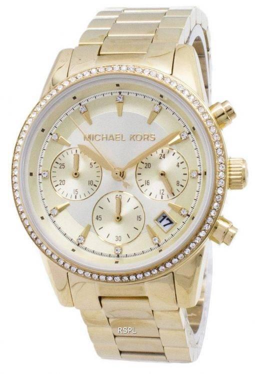 Michael Kors Ritz Chronographe Quartz diamant Accents MK6356 Women Watch