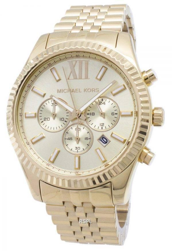 Michael Kors Lexington chronographe cadran Champagne MK8281 montre homme