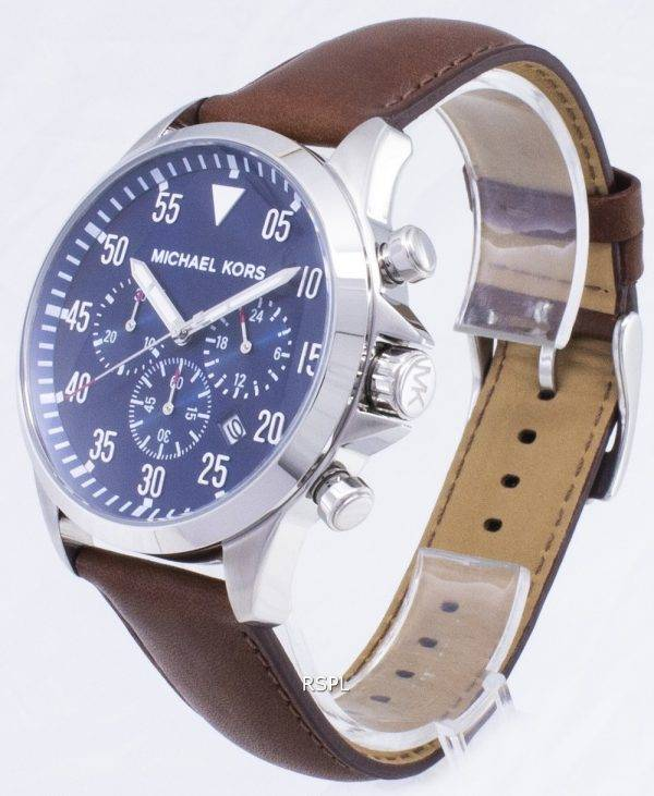 Michael Kors calibre chronographe cadran bleu MK8362 montre homme