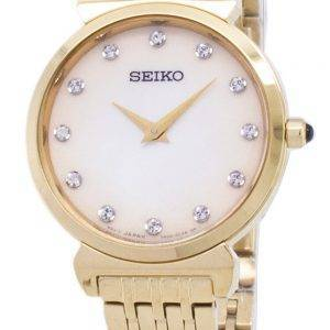 Seiko Quartz SFQ802 SFQ802P1 SFQ802P Diamond Accents Women Watch