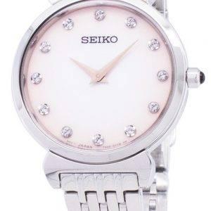 Seiko Quartz SFQ803 SFQ803P1 SFQ803P Diamond Accents Women Watch