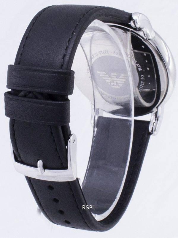 Montre Emporio Armani Classic hommes cadran noir en cuir noir AR1692