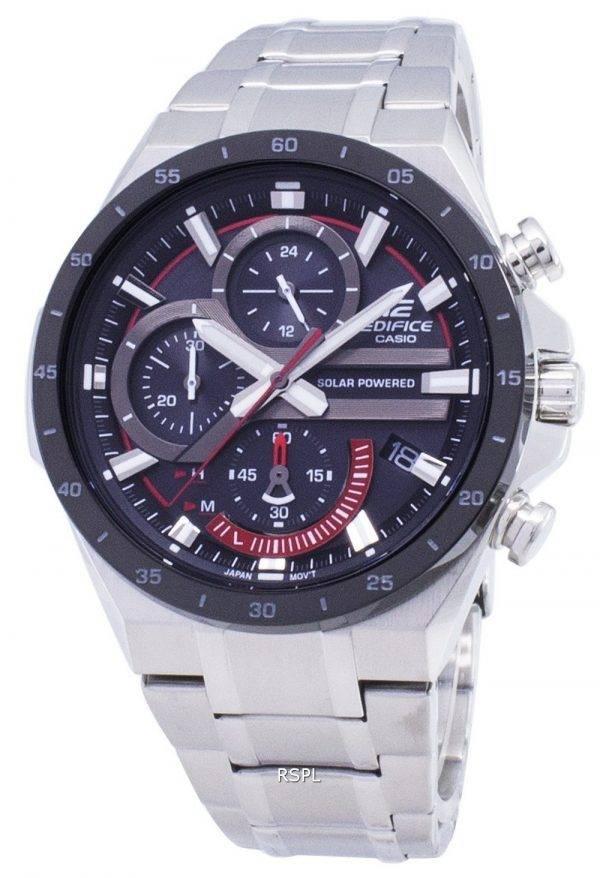 Montre Casio Edifice EQS-920DB-1AV EQS920DB1-AV solaire chronographe hommes