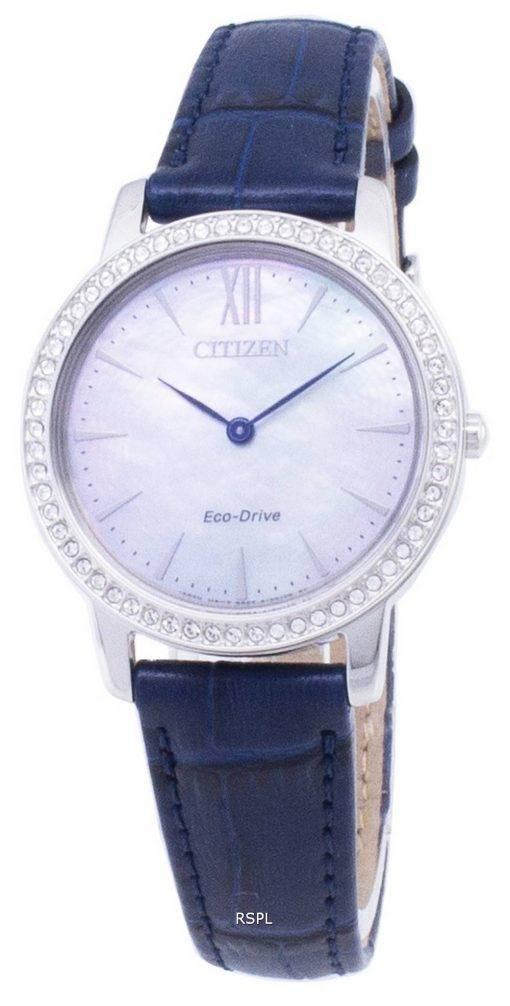 Citizen Eco-Drive EX1480 - 15D diamant Accents analogiques Women Watch