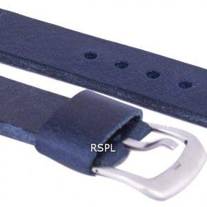 Bracelet de cuir de marque Ratio bleu 22mm