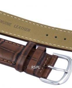 Bracelet de cuir brun Ratio marque 22mm pour SKX007 SKX009, SKX011, SNZG07, SNZG015