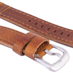 Bracelet de cuir brun Ratio marque 20mm