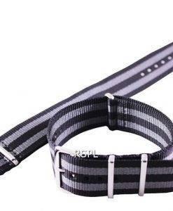 Seiko 22mm gris & noir Bracelet Nato pour SKX007 SKX009, SKX011, SRP497, SRP641