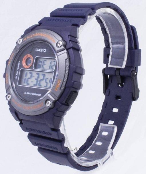 Jeunesse de Casio W-216H-2BV W216H-2BV illuminateur Quartz montre unisexe