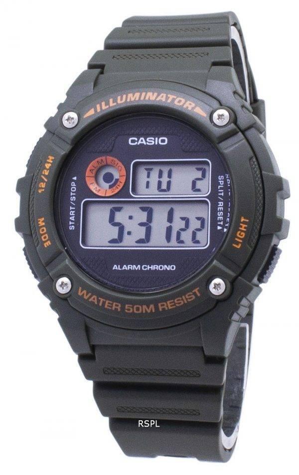 Jeunesse de Casio W-216H-3BV W216H-3BV projecteur Quartz montre unisexe