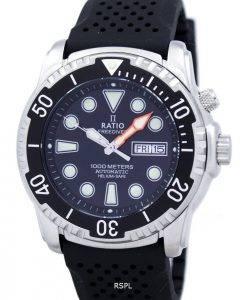 Rapport II gratuit montre Diver Helium-Safe 1000M automatique 1068HA90-34VA-00 homme